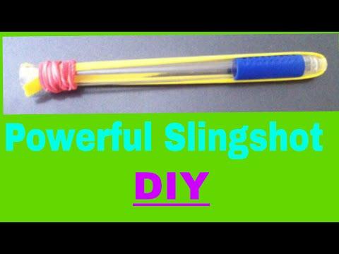 How To Make DIY Powerful Slingshot Using Pen