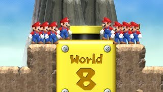 New Super Mario Bros Wii - All Warp Cannons with Multiple Marios