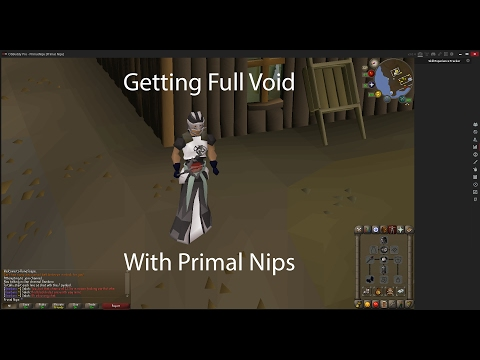 How to get full Void armor with Primal Nips - OSRS