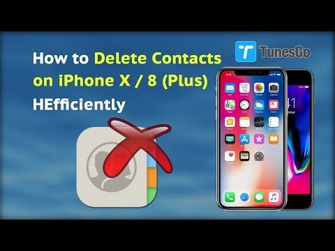How to Delete Contacts on iPhone X / 8 Plus Efficiently