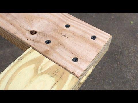 Chicken Coop Door Part 1: Joinery - Half-Laps in Pressure Treated Lumber