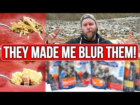 Testing US Camping MRE (Meal Ready to Eat)   Freeze Dried Food Taste Test Challenge