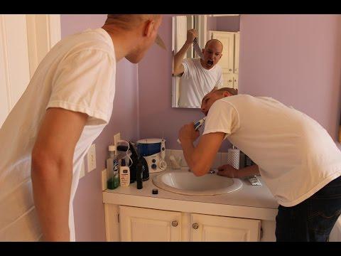 Scary Bathroom Shot - Photoshop editing Double clone mirror camtasia