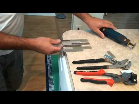 The easiest way to cut glass stainless backsplash