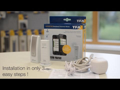 Monitoring temperature with Smart home temperature monitor WeatherHub by TFA Dostmann