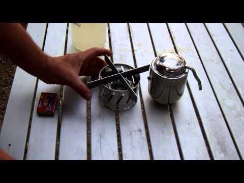 Esbit Coffee Pot In Action