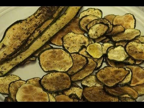 how to make baked zucchini chips
