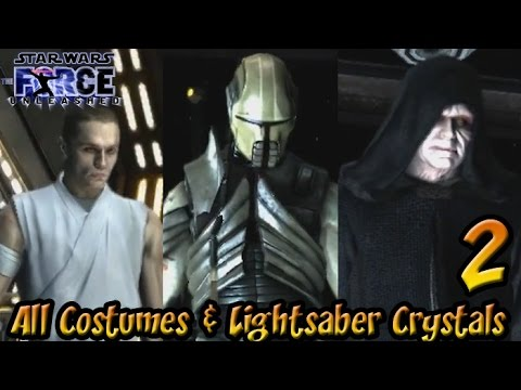 Star Wars: The Force Unleashed Walkthrough - PART 2 - All Costumes & All Lightsaber Crystals