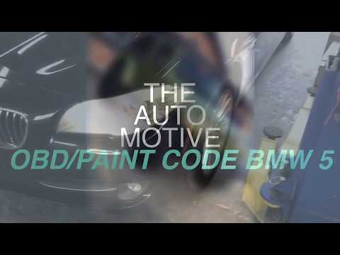 Paint Code and OBD port location BMW 5 series 2012
