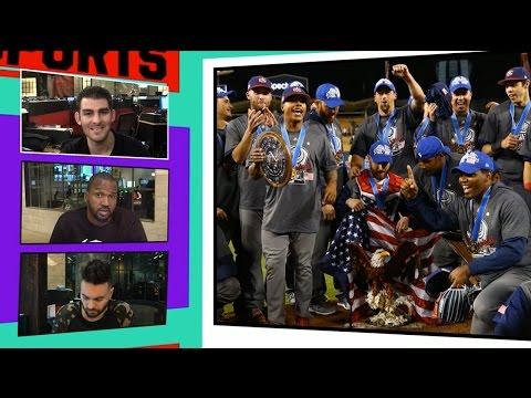 Team USA Celebrates World Baseball Classic Title With Champagne Showers!! | TMZ SPORTS
