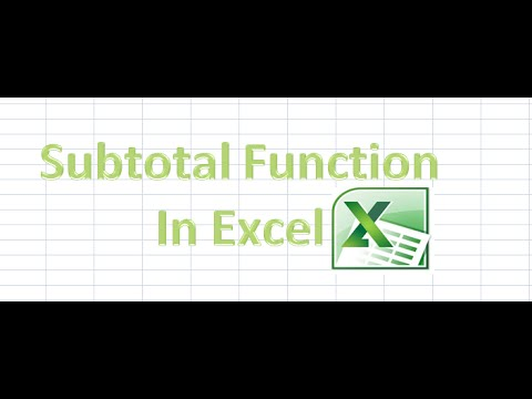 How to Use Subtotal Funtion in Excel