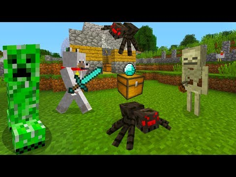 Minecraft Xbox - First Night The Mobs Attack! [1]