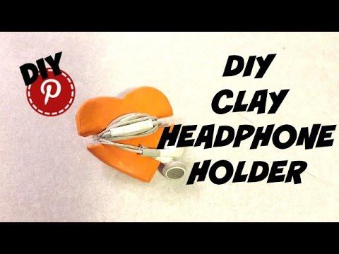 DIY Air Dry Clay Headphone Holder