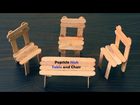 How to Make Table and Chair using the Popsicle Stick