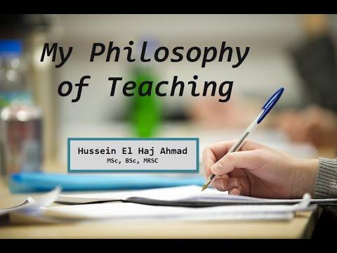 My Teaching Philosophy- Hussein El Haj Ahmad