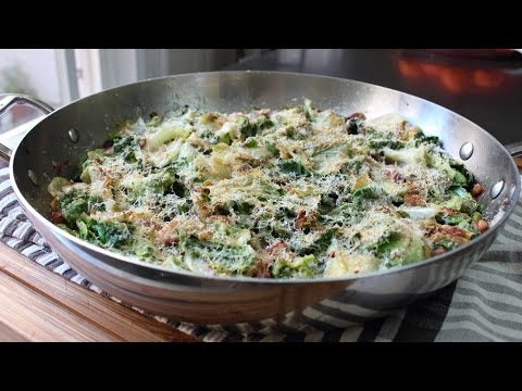 Utica Greens & Beans - Escarole Gratin with Beans Recipe - New Year's Day Special!