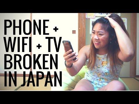BROKEN PHONE + WIFI + TV in rural Japan. #whattodo???