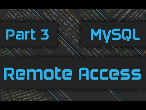 How to Enable Remote Access for MySQL Server/Database