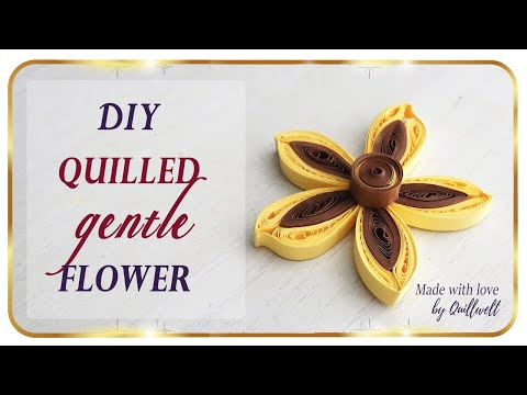 How To Make Quilled Flowers Using Paper Strips