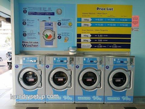 Self Service Laundry Franchise Malaysia - Pembekal mesin layan diri dgn reno, design dan all-in