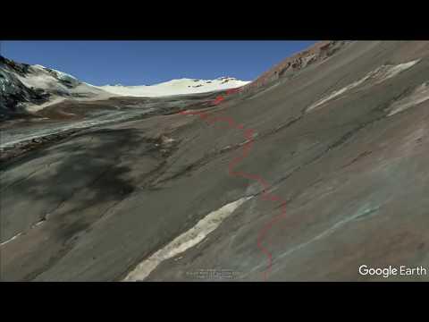 Google earth fly-through of our Kazbek climbing route