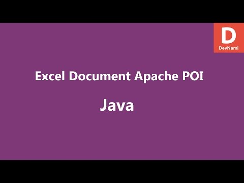 Create Excel File Java Apache POI