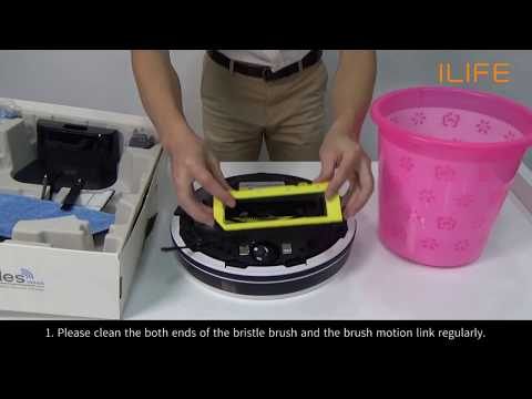 How to clean the bristle brush | ILIFE V7/s Robot Vacuum
