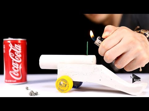How to Make Powerful Cannon - concrete diy