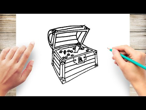 How to Draw a Treasure Chest Step by Step for Kids