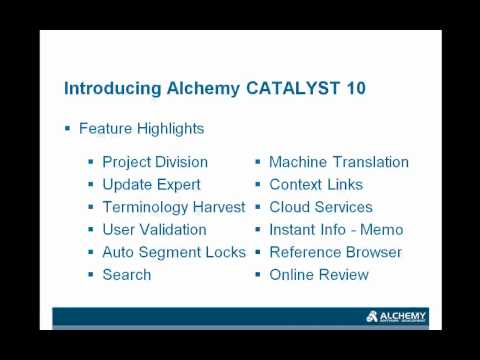 Introducing Alchemy CATALYST 10