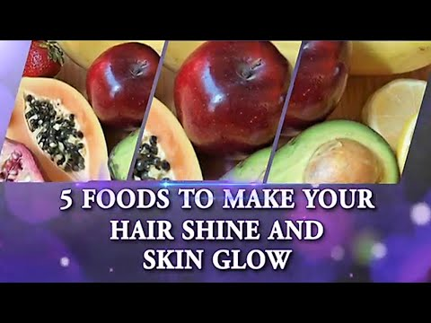 5 Foods to have Glowing Skin and Shiny Hair | Healthy Hair | Healthy Skin | Boldsky