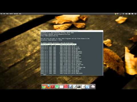 Recover files, folders and partitions of NTFS using TestDisk (Ubuntu)