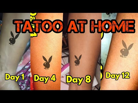 Waterproof Temporary Tattoo At Home. Last upto 12 Days
