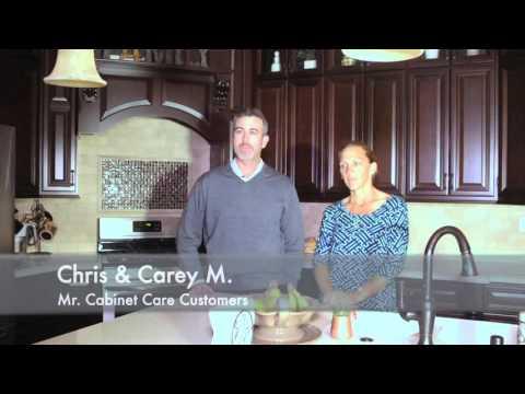 Chris & Carey testimonial B for Mr Cabinet Care