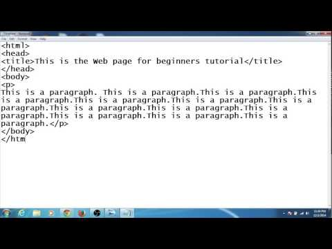 How to create your first web page using notepad
