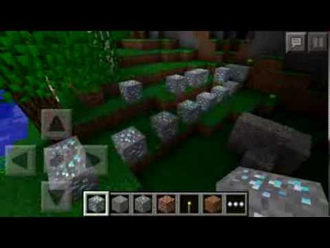 How to get 14 diamonds in Minecraft Pe!!!, seed:nyan