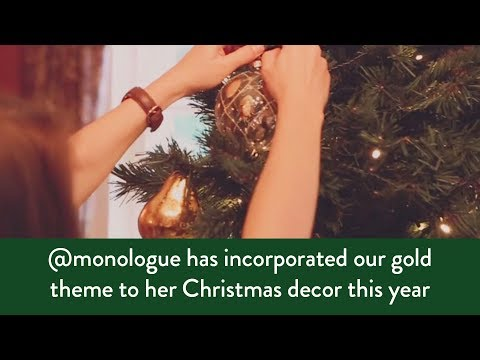 How to decorate your Christmas tree with a gold theme