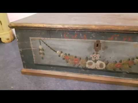 Very Old Pine Marriage Chest  - Pinefinders Old Pine Furniture Warehouse
