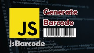 Javascript Tutorial: How to Generate Barcode in the Browser