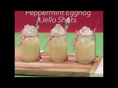 How to Make Peppermint Eggnog Jello Shots