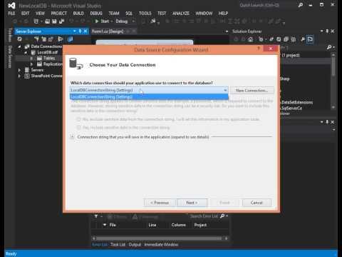 Create Local Database in Visual Studio - Part 1