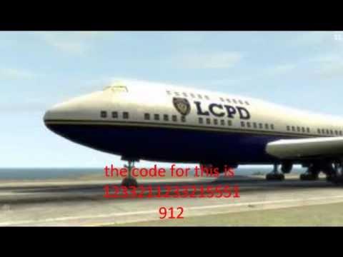 plane cheat code gtaiv
