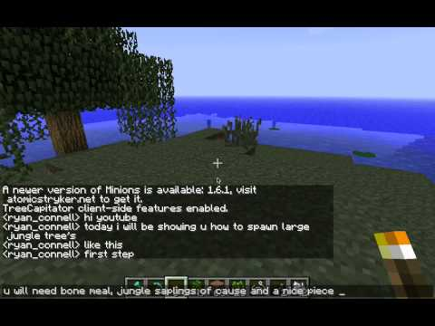 how to spawn a large jungle tree minecraft totorial