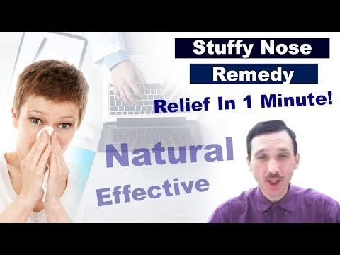 Stuffy Nose Remedy - Natural Relief (Clear) in 1 Min
