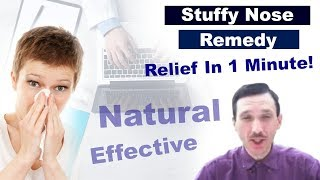 Stuffy Nose Remedy Natural Relief Clear In 1 Min