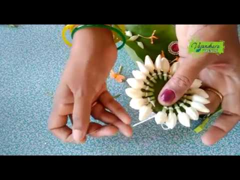 How To Make Bridal Hair Band    Hair Band Flower Tutorial    Making of Wedding Flower