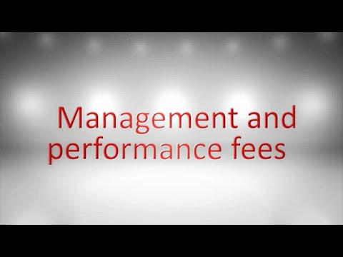Management and performance fees