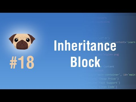Learn Pugjs in Arabic #18 - Inheritance And How To Use Block