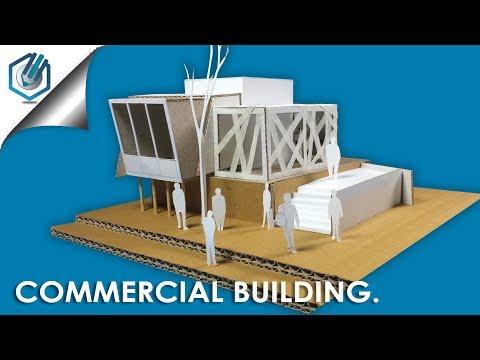 MODERN ARCHITECTURAL Model of commercial Design-