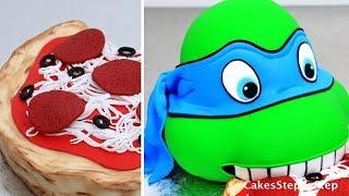 TMNT CAKE - How To Make a  Teenage Mutant NINJA TURTLE Cake by Cakes StepbyStep